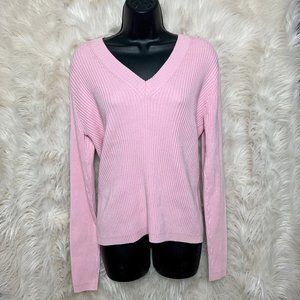 GAP Pink Ribbed Sweater